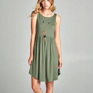 Light Olive Tank Dress by Emerald